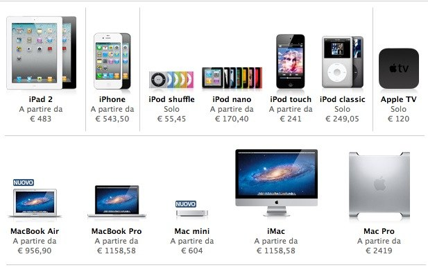 apple store online IVA 21 %