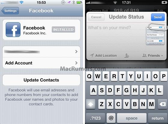 Facebook iOS 5