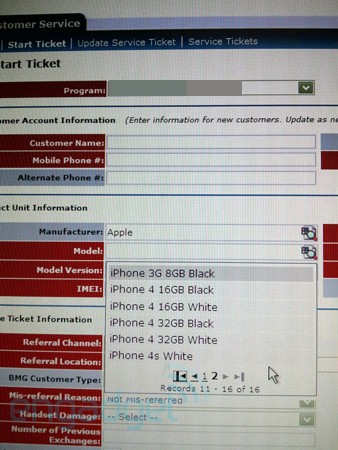 iPhone 4s documento AT&T