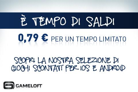 Offerte Gameloft, i migliori giochi per iPad e iPhone a 0,79 Euro