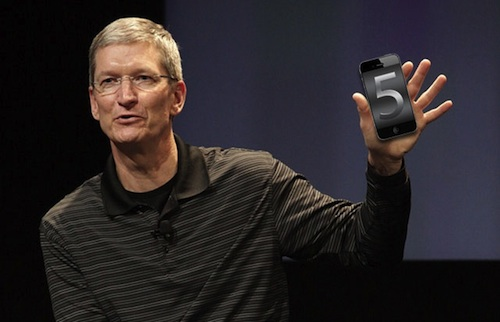 Tim Cook presentazione iphone 5