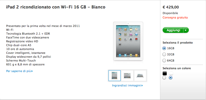 iPad 2 ricondizionato