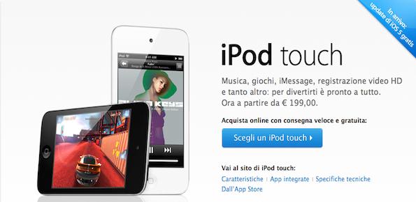 Arriva anche il nuovo iPod touch bianco, ora è ufficiale