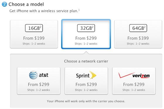 iPhone 4S disponibile in USA in 1-2 settimane