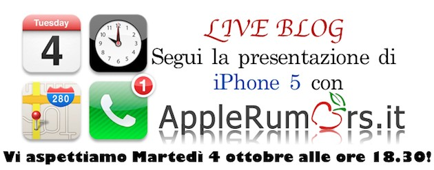 evento iphone 5 presentazione applerumors
