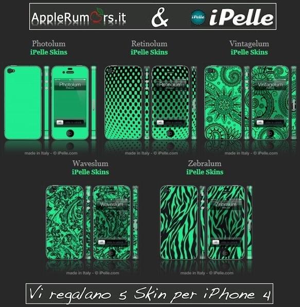 CONTEST: AppleRumors e iPelle vi regalano 5 skin fosforescenti per iPhone 4 – Vincitori