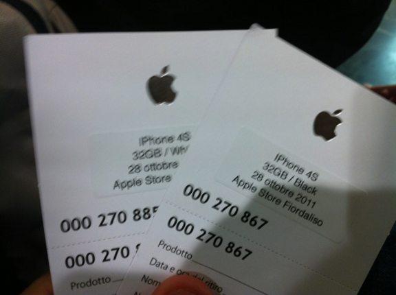 prenotazione iphone 4s