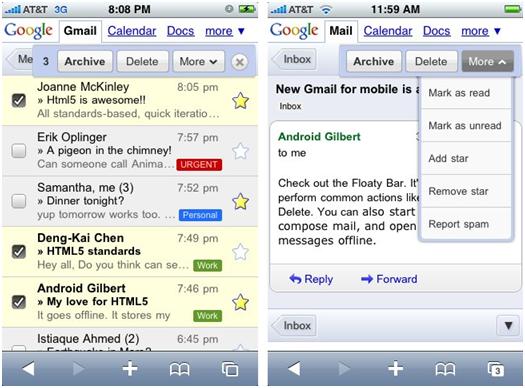 Nuova versione di Gmail per iOS