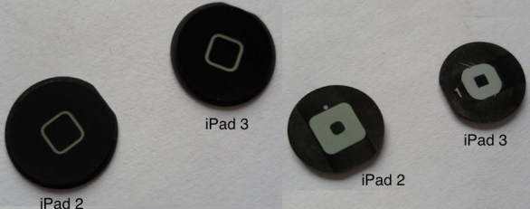 iPad 3 bottone