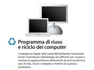 apple programma riciclo