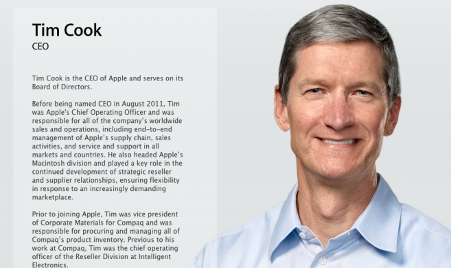 tim cook CEO lettera