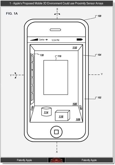 apple 3d brevetto