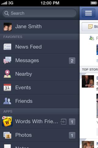 Facebook si aggiorna anche su iPhone ed introduce la Timeline
