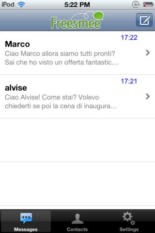 Freesmee: invia gratis sms dal tuo smartphone