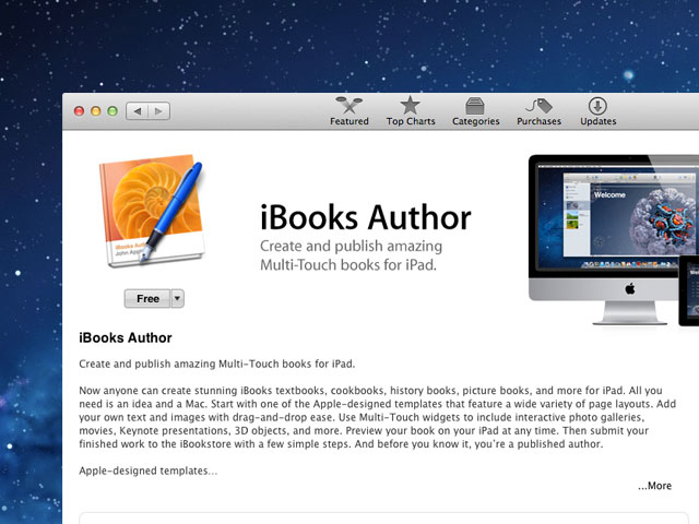 iBook Author free