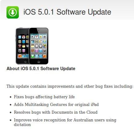 Aggiornamento iOS 5.0.1: ancora problemi di batteria ed altri bugs