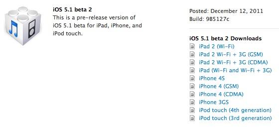Apple: le novità di iOS 5.1 Beta 2