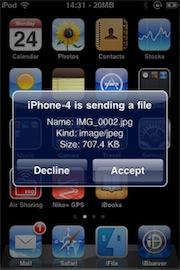 AirBlue Sharing Cydia