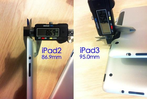 0.8 mm: questa la differenza di spessore fra iPad 2 e 3