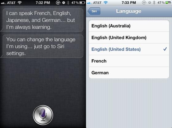 Siri anticipa la presenza della lingua Giapponese