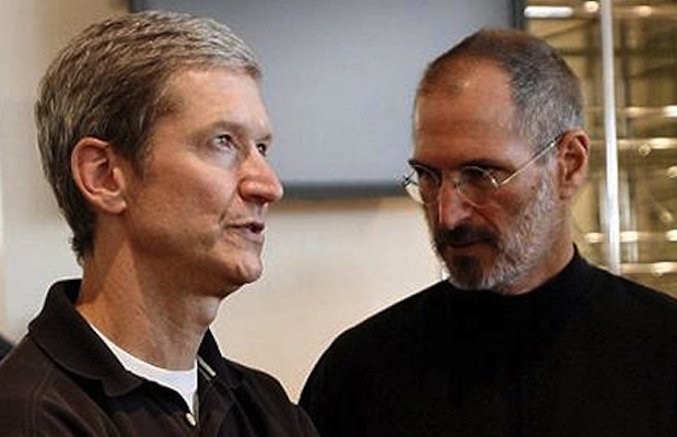 tim cook with steve jobs