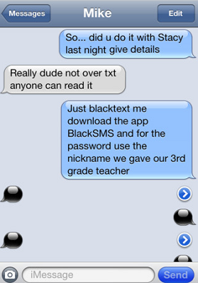 black sms iphone