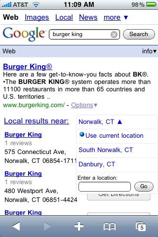 motore di ricerca google su iPhone