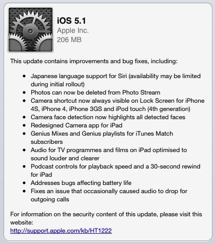 iOS 5.1 disponibile per tutti gli utenti!