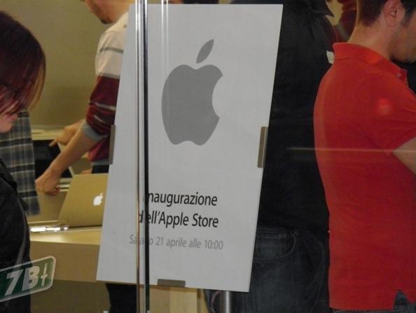 inaugurazione apple store roma