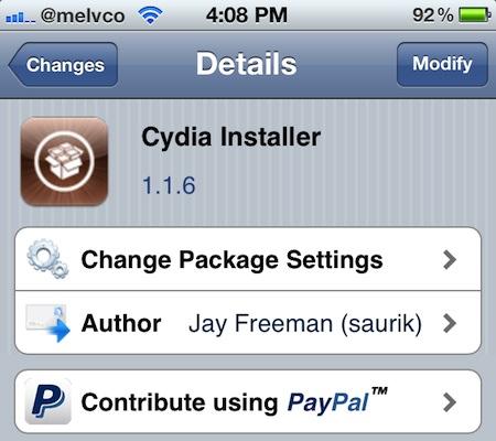 Saurik rilascia l'aggiornamento 1.1.6 di Cydia e rimuove lo scherzo del pesce d'aprile dello scorso anno