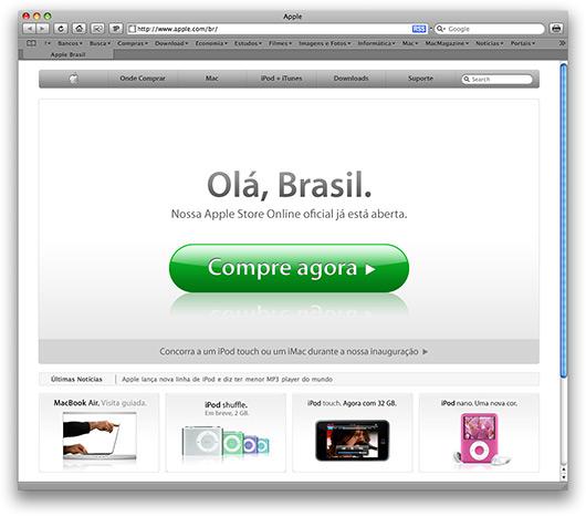 apple store brasile aggiornamento