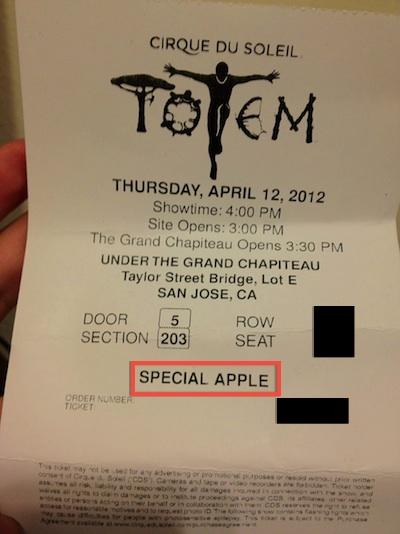 Apple compra tutti i biglietti per il Cirque du Soleil