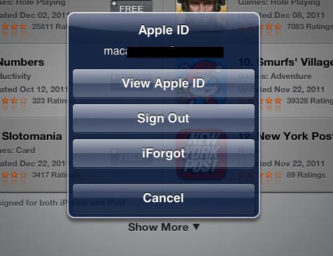 message apple id