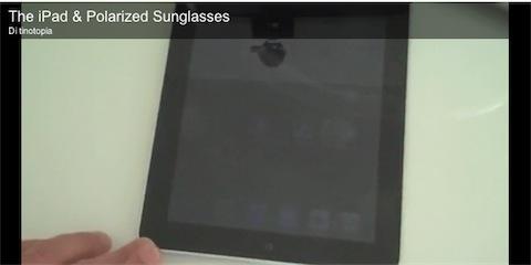 L'iPad ed occhiali da sole polarizzati, un binomio all'insegna del nero