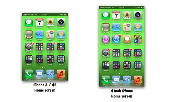 display 4 pollici iphone 5