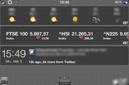 widget iOS 6