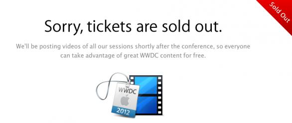 WWDC 2012: biglietti esauriti in meno di due ore