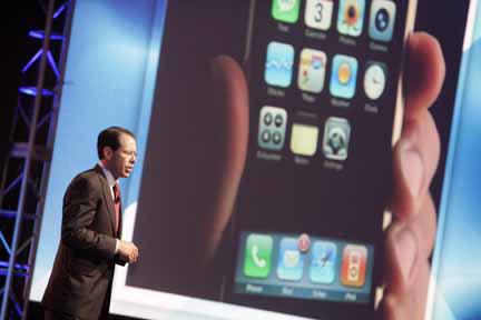 presentazione dell'accordo tra AT&T e iPhone