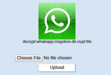 WhatsApp message decrypt file