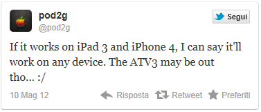 tweet di pod2g per il jailbreak dell'iPhone 4
