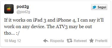 tweet di pod2g per il jailbreak dell'iPhone 4