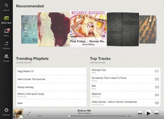 Spotify per iPad debutta nell'Apple Store