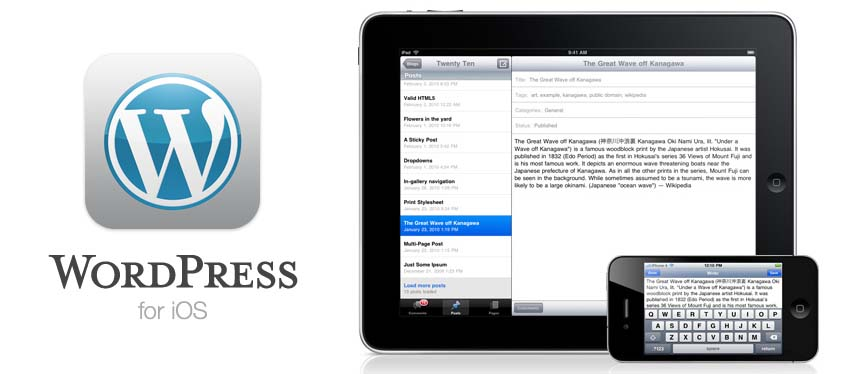 wordpress 3.0 ios