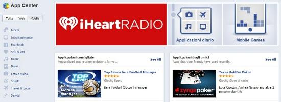App Center di Facebook