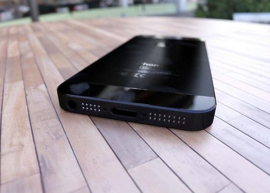 finto iphone 5, elaborazione al pc