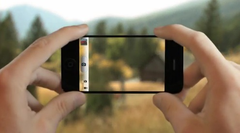 iphone con display trasparente
