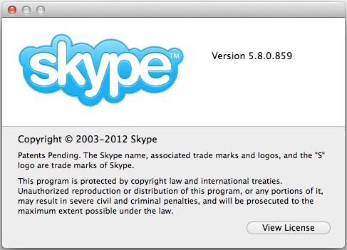 aggiornamento skype 5.8