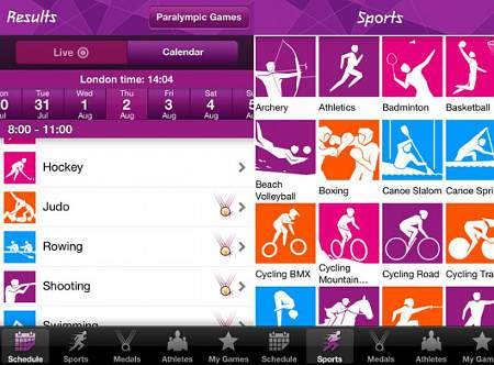 londra 2012 applicazione olimpiadi