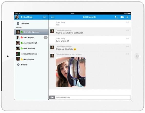 condivisione foto skype