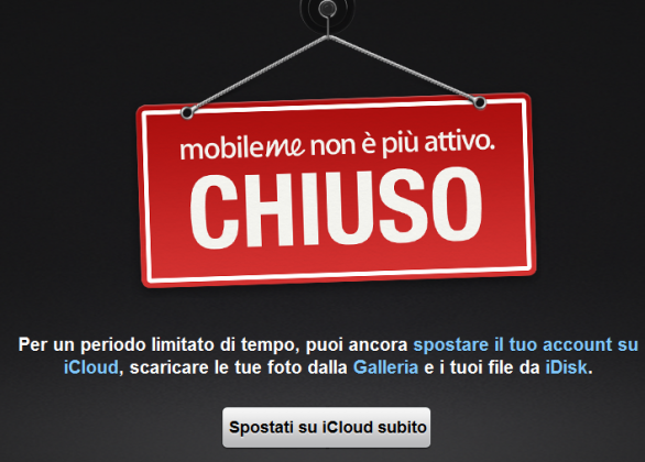 Apple chiude definitivamente MobileMe